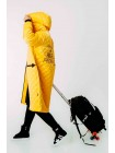 Куртка-пуховик с принтом -  стрелы и надпись fashion на спине JO JO