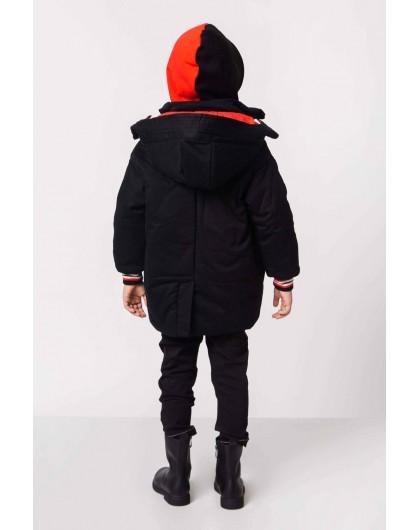 Куртка с капюшоном и полосатыми нашивками JO JO