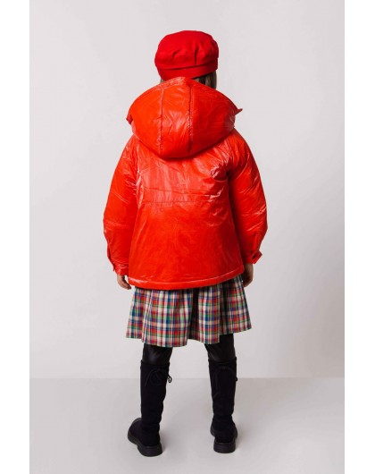 Куртка, блестящая с капюшоном JO JO