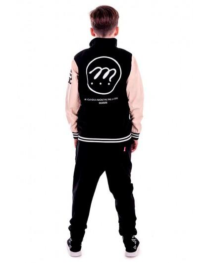 Куртка - бомбер со вставками из экокожи Manan