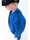 Куртка-бомбер двухцветная с нашивкой JoJo