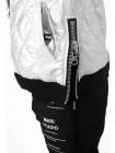Куртка двухсторонняя черная/металик JO JO