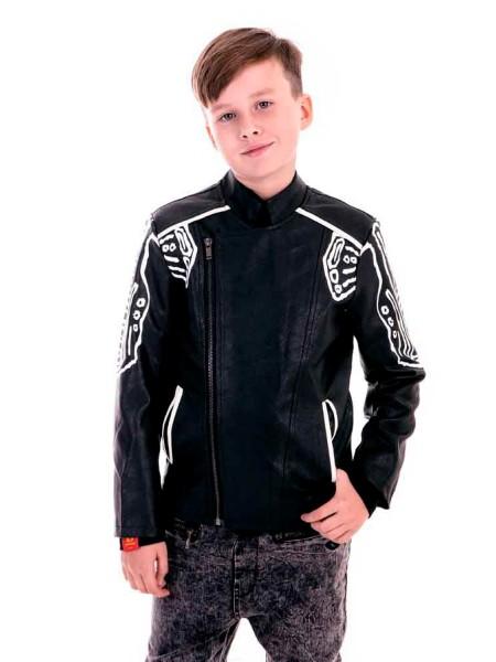 Куртка - косуха с белыми росписями Manan