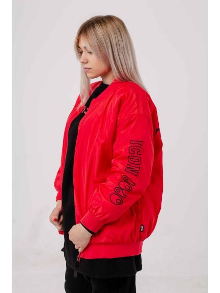 Куртка с принтом на спине JoJo