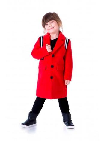 Пальто классическое с черно-белыми нашивками на плечах JO JO