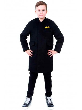Пальто на молнии с нашивками JO JO