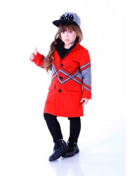 Пальто кашемировое с серыми вставками JO JO
