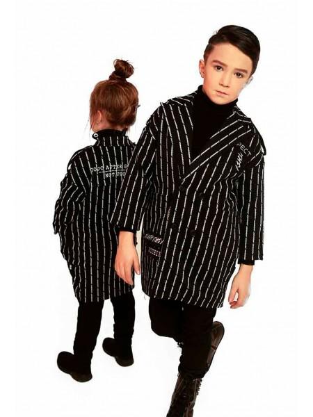 Пиджак в полоску удлиненный JO JO