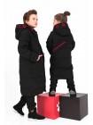 Пуховое пальто с красными вставками JO JO
