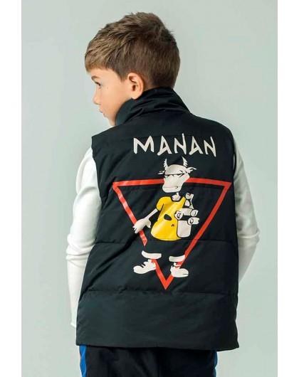 Жилет стеганный на спине красный треугольник Manan