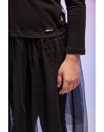 Джемпер с фатиновой юбкой JO JO