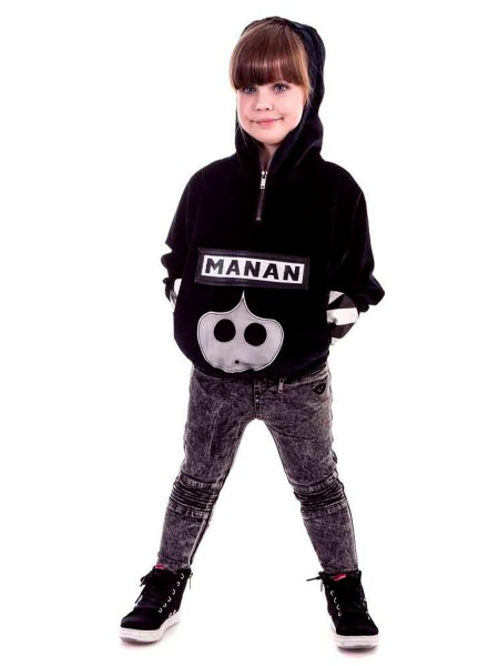 Худи с брендовой надписью Manan