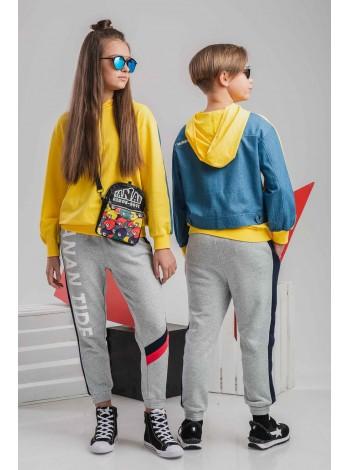 Свитшот с джинсовой спинкой Manan