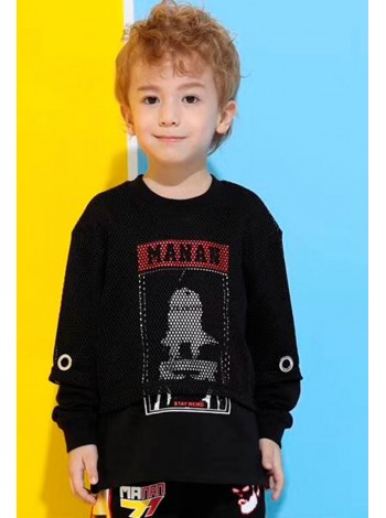 Свитшот с футболкой-сеткой Manan