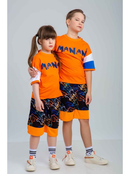 Футболка с принтом «робот» Manan