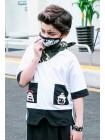 Футболка с черными карманами Manan