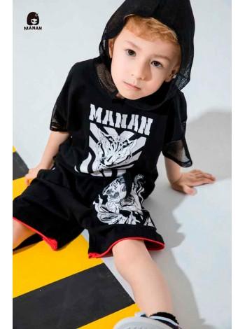 Футболка с капюшоном принт тигр Manan