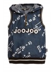 Майка джинсовая с формулами JO JO