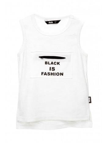 Майка с перфорацией Black is Fashion JO JO