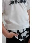 Футболка с вставкой рубашки с принтом в горошек JO JO
