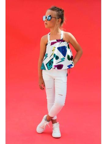 Туника с принтом цветные очки JoJo