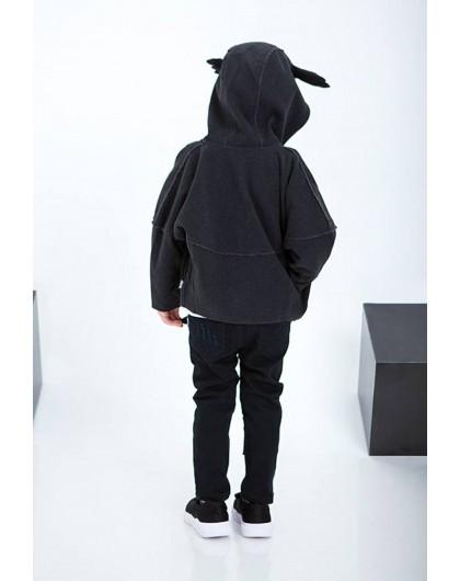 Кофта летучая мышь с рожками оленя на капюшоне JoJo