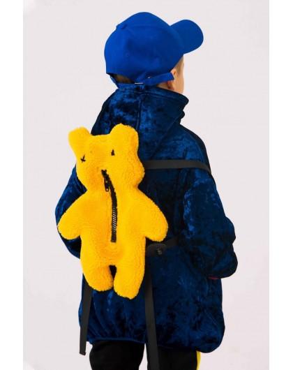 Кофта бархатная с капюшоном и рюкзаком в комплекте JO JO