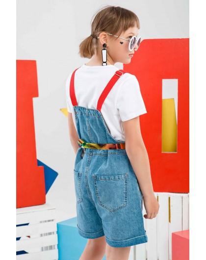 Полукомбинезон джинсовый с футболкой JO JO