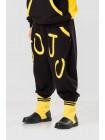 Костюм черного цвета с желтым узором JO JO