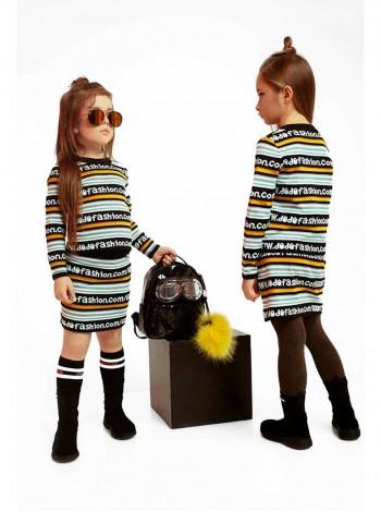 Костюм с юбкой вязаный в полоску Fashion JO JO