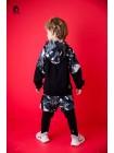 Костюм с брюками ( шорты-лосины + свитшот) со вставками хаки