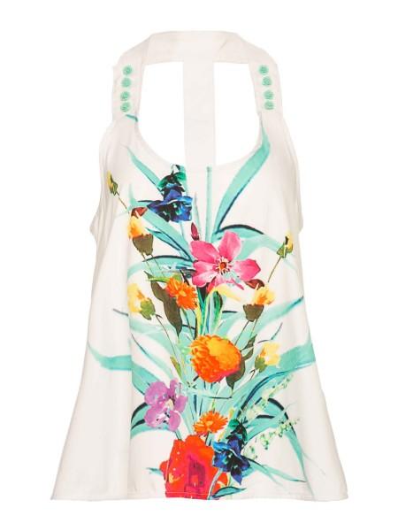 Блуза с цветочным принтом Waggon Paris