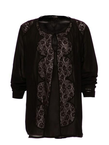 Блуза с гипюровыми вставками Waggon Paris
