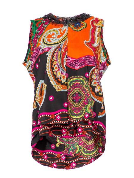 Блуза с кружевным воротом Roberta Biagi