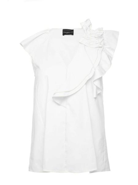 Блуза с воланами и рюшами Atos Lombardini