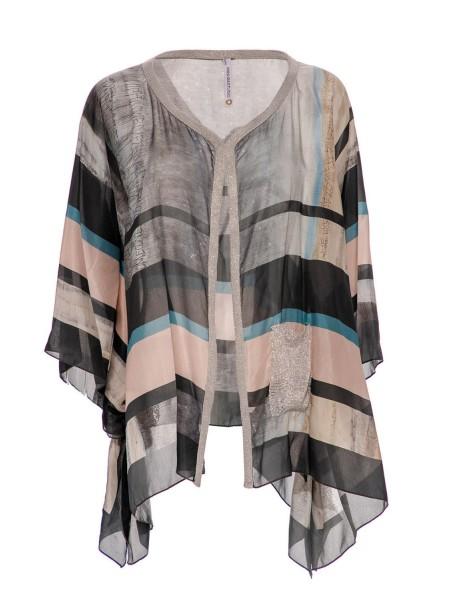 Блуза шелковая с люрексом PIANURA STUDIO