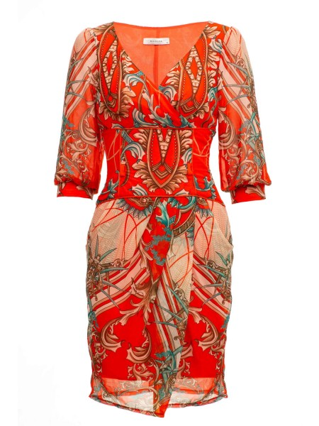 Платье красное BOVONA