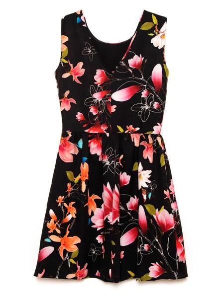 Платье с цветочным принтом Baldinini