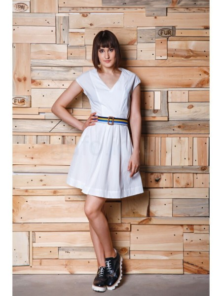 Платье с пояском Baldinini