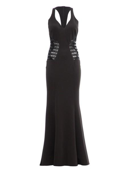 Платье с вставками из кружева и экокожи Explosion London