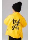 Джинсовый пиджак с принтом на спине JO JO