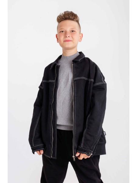 Пиджак без капюшона с большим принтом на спине JoJo