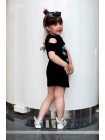 Платье с рисунками стразы на спине бант JO JO