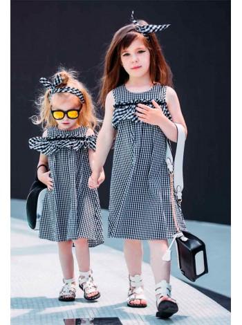 Платье в клетку + повязка JO JO