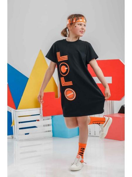 Туника с оранжевым принтом JO JO