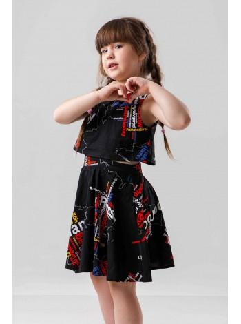 Платье с принтом «Карта» JO JO