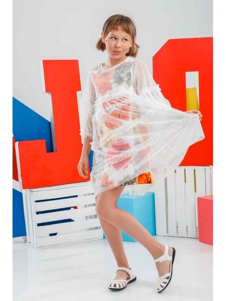 Платье фатиновое с хлопковым сарафаном JO JO