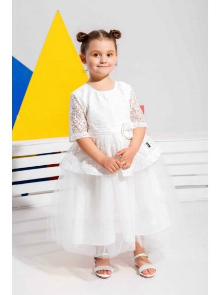 Платье пышное с кружевом JO JO
