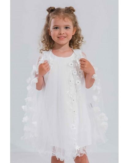 Платье с фатиновой накидкой JOJO