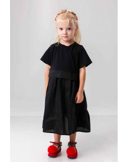 Платье хлопковое с воланами  JO JO